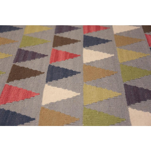 Mid 20th Century Vintage Swedish Kilim For Sale - Image 5 of 8