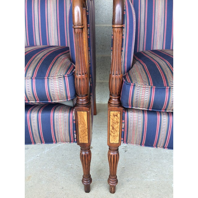 Blue Southwood Mahogany Accent Chairs - a Pair For Sale - Image 8 of 11