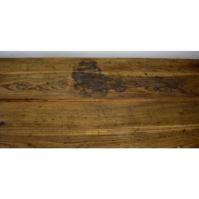 Massive Vintage Painted Pine and Oak Store Counter For Sale - Image 12 of 13