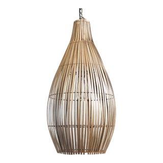 Raw Bamboo Bottle Lantern