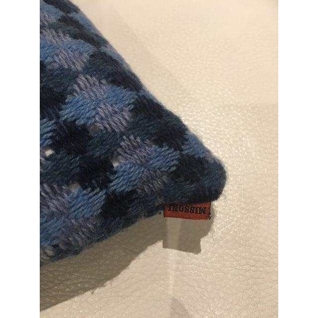 Missoni Blue & Yellow Wool Pillow - Image 3 of 6