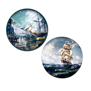 John Stobart Plates for Collectors International by Royal Doulton - a Pair For Sale