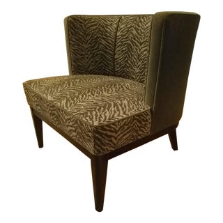 Modern Crate and Barrel Zebra Print Chair