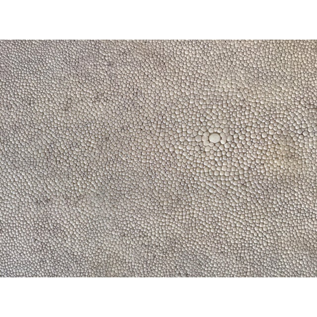 Shagreen Set of Three R & Y Augousti Organic Shaped Shagreen Drink Tables For Sale - Image 7 of 13