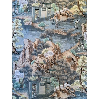 1960s Vintage Chinoiserie Fabric For Sale