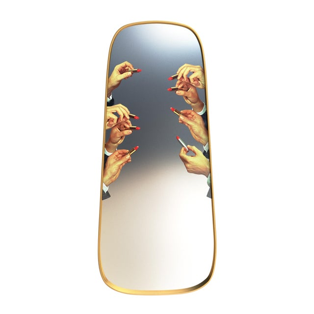 Seletti, Lipsticks Mirror, Long, Toiletpaper, 2018 For Sale