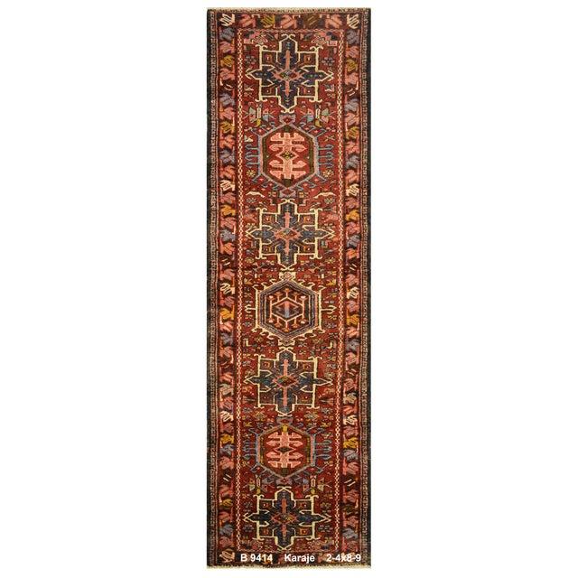 "Vintage Persian Karaje Rug - 2'4"" x 8'9"" - Image 1 of 4"