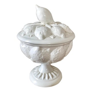 Vintage Italian Trompe l'Oeil Lemon Covered Dish For Sale