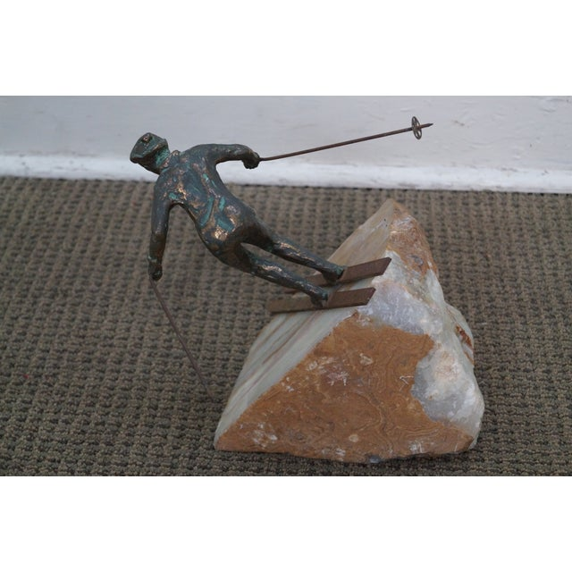 Curtis Jere Bronze Sculpture of Downhill Skier - Image 4 of 10