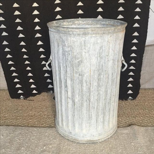 Vintage Galvanized Metal Barrel Bucket - Image 3 of 9