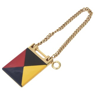 Vintage Gucci Italian Mondrian Style Geometric Key Ring For Sale