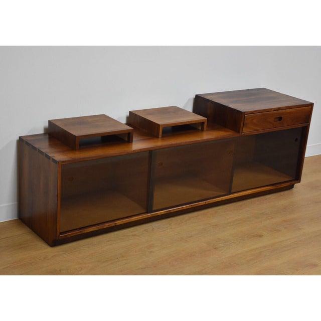 Solid Walnut Record Cabinet Tv Stand Chairish