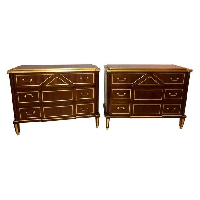 Pair of Russian Neoclassical Style Commodes / Bedside Nightstands or Servers For Sale - Image 13 of 13