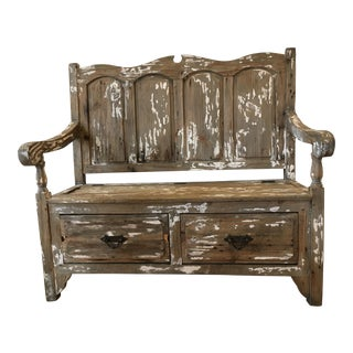 Tamara Danielle Rustic Wooden Bench For Sale