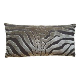 "Contemporary Scalamandre ""Tigre"" Lumbar Pillow For Sale"