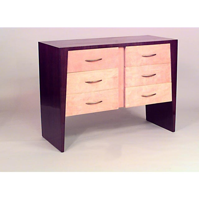 Art Deco French Art Deco Rosewood And Sycamore Chest For Sale - Image 3 of 3