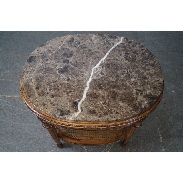 Marble Marble Top Side Table For Sale - Image 7 of 10