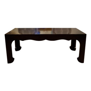 Sherrill Walnut Finish Cocktail Table For Sale