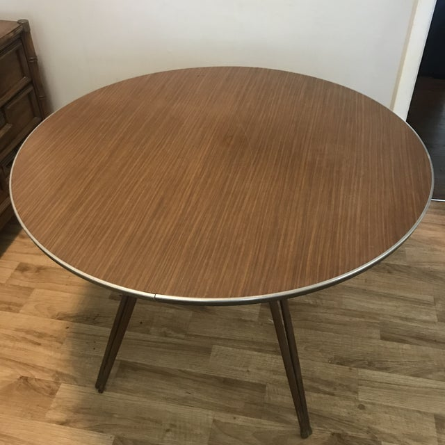 Atomic Retro Modern Formica Top Dining Table - Image 3 of 4