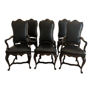 Louis XV High Back Dining Chairs- Set of 6 For Sale