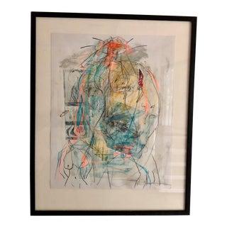 "Ellen Reinkraut ""Women's Strength"" Original Figurative Mixed Media Painting For Sale"
