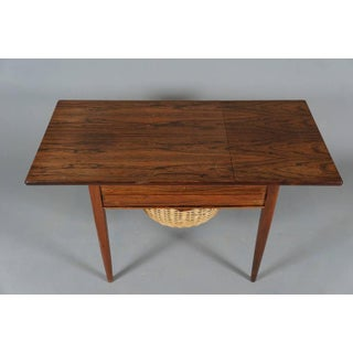 Danish Modern Drop-Leaf Rosewood Sewing Table with Basket Preview