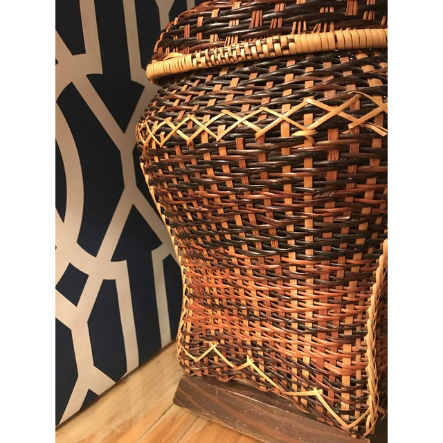 Vintage Rattan Table Lamp For Sale - Image 4 of 8