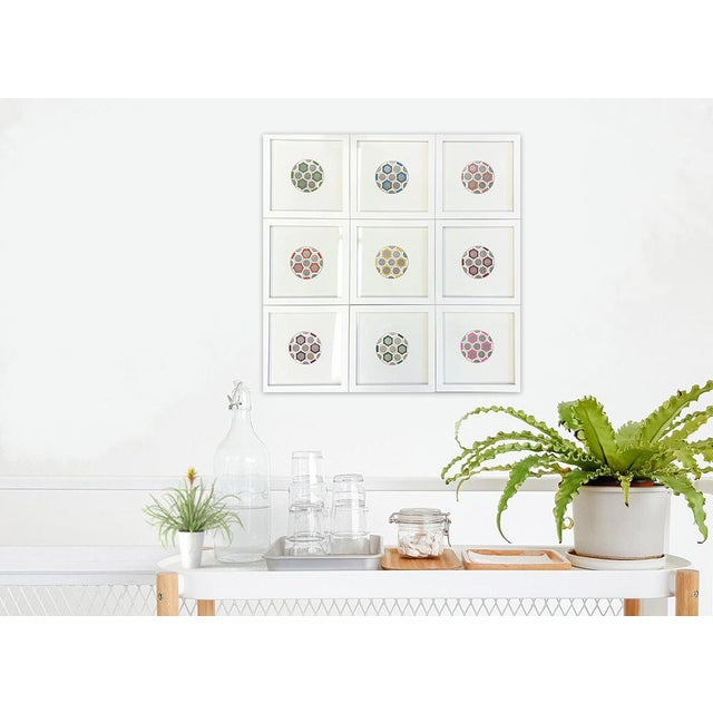 Minimalist Geometric Ink Drawings by Natasha Mistry- Set of 9 For Sale In Denver - Image 6 of 9