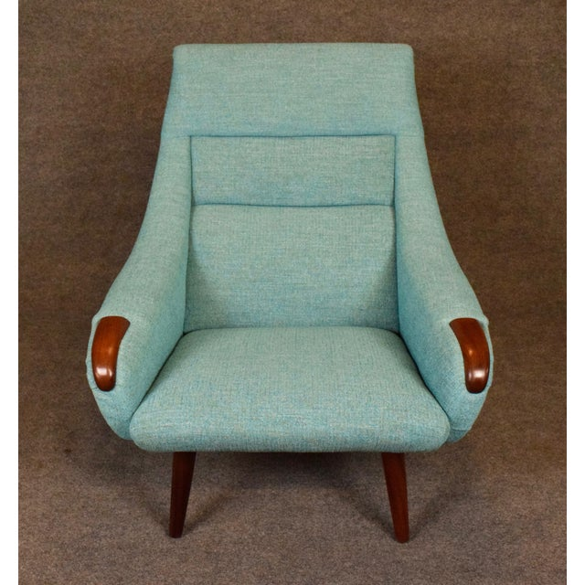 1960s Vintage Danish Modern Lounge Chair For Sale - Image 9 of 11