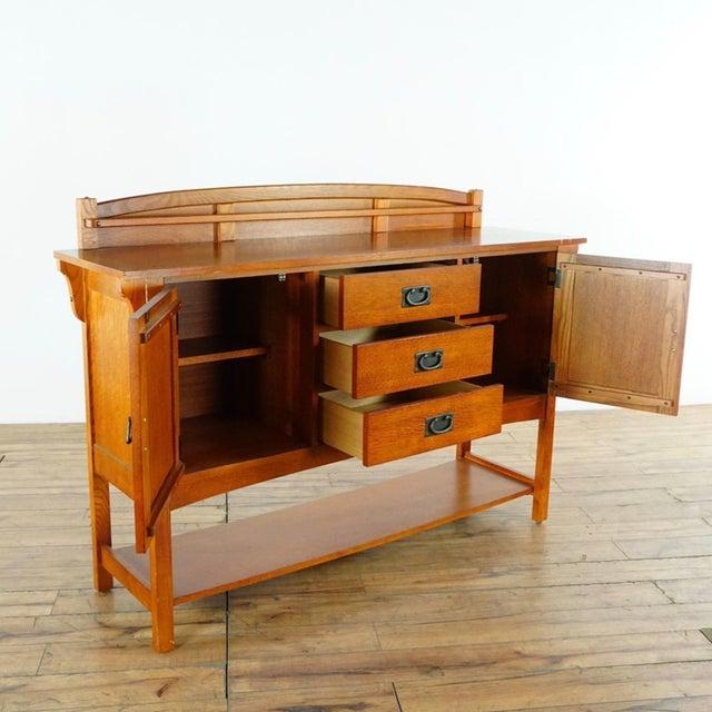 Bassett Mission Style Basset Oak Sideboard For Sale - Image 4 of 8