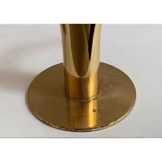 Swedish Mid-Century Brass Candlesticks by Ystad Metall - a Pair For Sale - Image 10 of 13