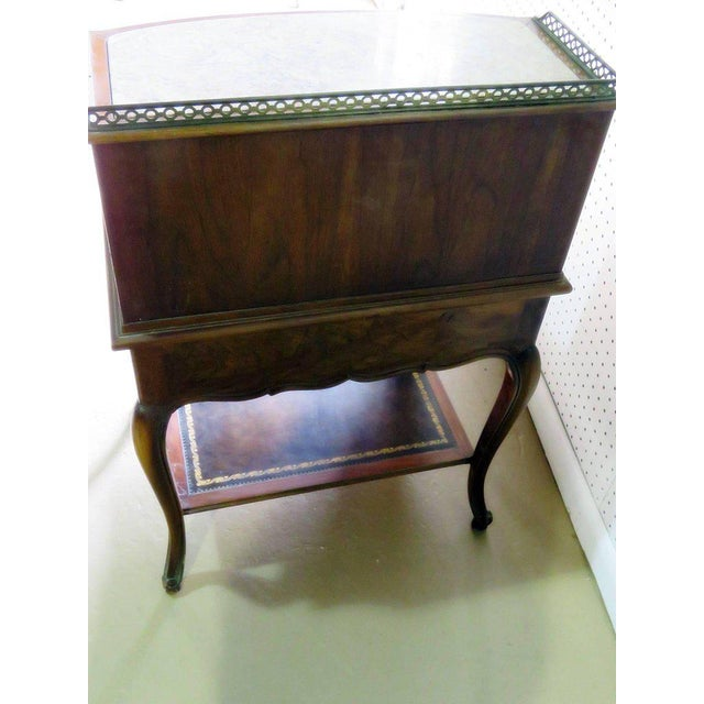Marble-Top Louis XIV Style Step End Table For Sale - Image 9 of 10