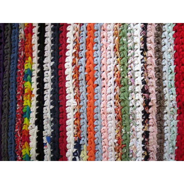 Modern Braided Rag Rug- 4′ × 20′6″ For Sale - Image 10 of 13