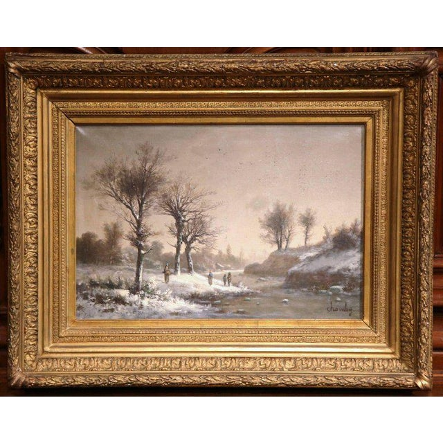 Gilt Framed French Pastoral Paintings - A Pair - Image 6 of 10