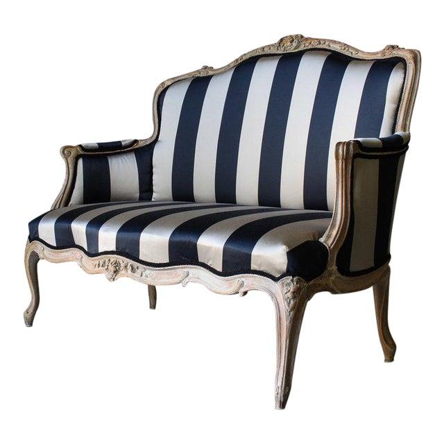 Vintage Louis Reupholstered Settee For Sale