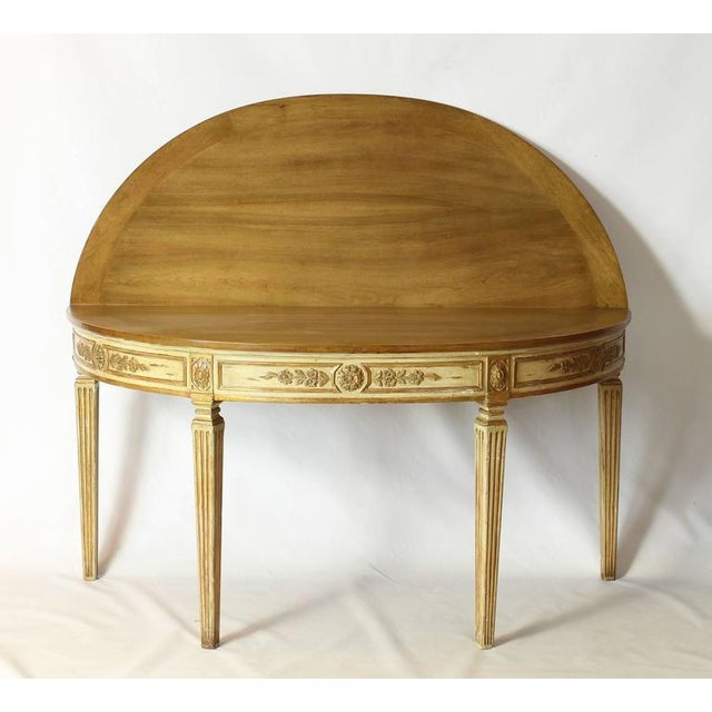 Neoclassical Folding Demilune Table For Sale - Image 5 of 10