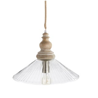 Sophia Glass Pendant Lamp With Rope by Napa Home For Sale