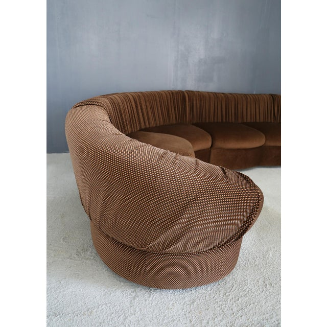 1970s 70's Modular Corner Sofa With Armchair. For Sale - Image 5 of 9