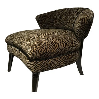 "Mid-Century Modern ""Maria"" Tiger Print Chair For Sale"