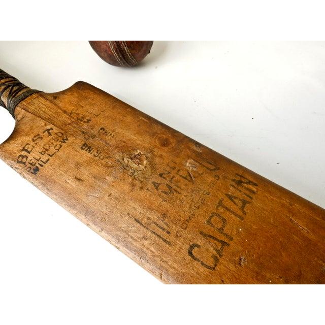 Vintage English Cricket Bat, Cricket Ball Captain - Image 6 of 7