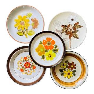 Vintage Mismatched Salad Plates- Set of 5 For Sale