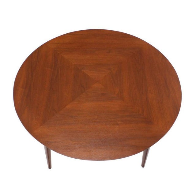 Mid-Century Modern Vintage Mid Century Danish Modern Teak Round Game Table For Sale - Image 3 of 7