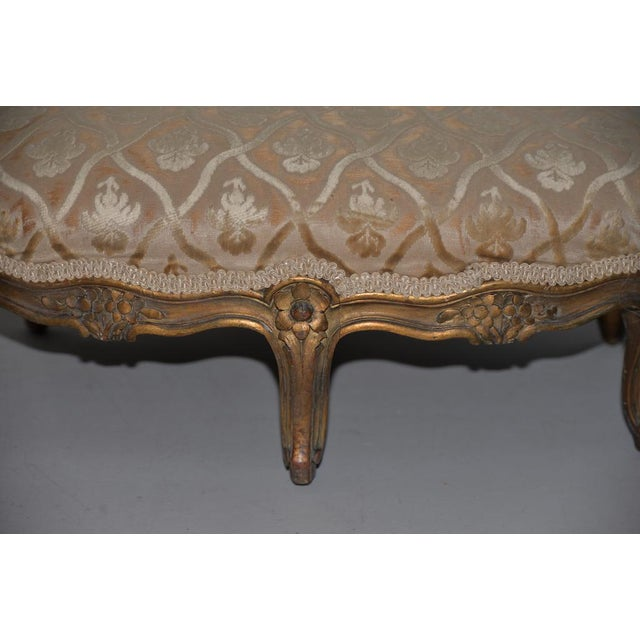 Late 19th Century Late 19th to Early 20th Century Carved & Gilded French Walnut Foot Stool For Sale - Image 5 of 7