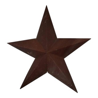 1930s American Folk Art Metal Star Sculpture For Sale