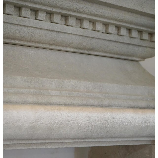 Hand Carved Mantel with Trumeau For Sale In Dallas - Image 6 of 8