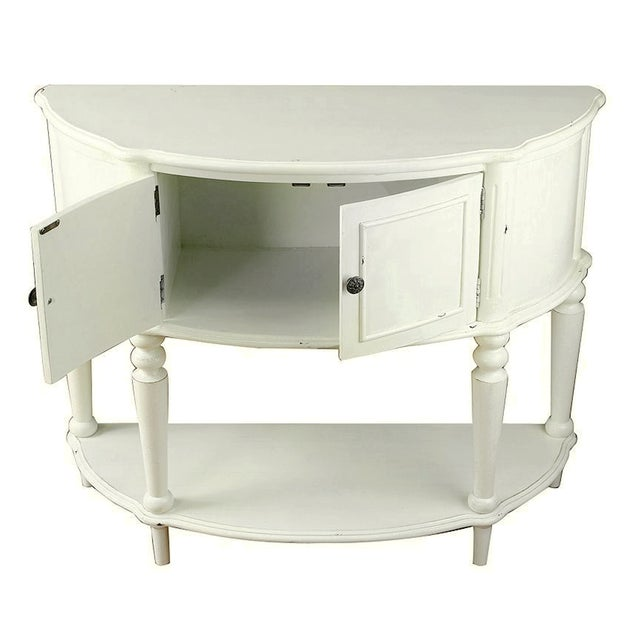 Distressed White Cabinet With Shelf Console - Image 2 of 2