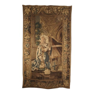 Circa 1600 French Aubusson Tapestry Depicting the Coronation of a King For Sale