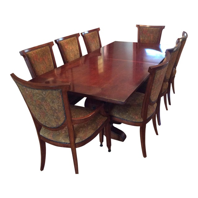Bernhardt Dining Table and 8 Chairs - Image 1 of 8