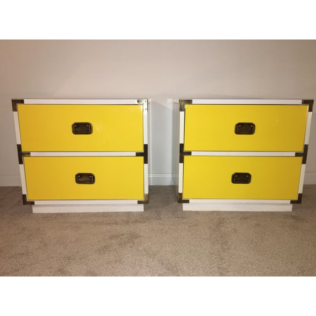 1970s Mid-Century Modern Campaign Nightstand-a Pair For Sale - Image 12 of 12