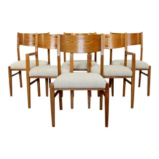 Mid Century Modern Wright Conant Ball Dining Side & Armchairs 1960s - Set of 6 For Sale
